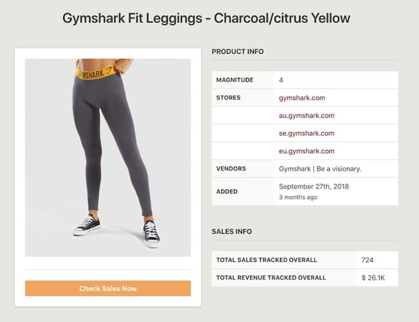 Gymshark sales